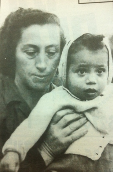 Tzila Levine and her adoptive mother.