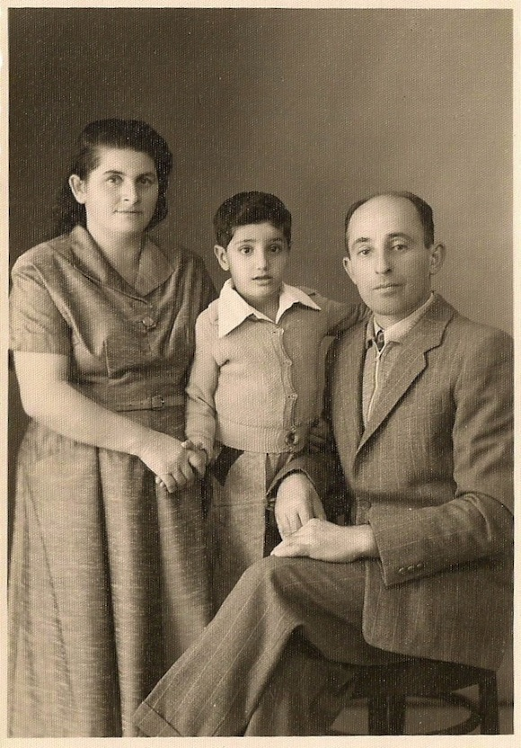 Yehuda Cantor with his adoptive parents.