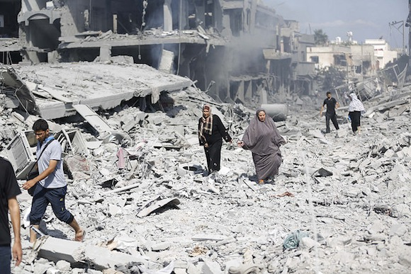 Destruction in Shajaiya, Gaza. 27 July 2014. Photo: Photo: Iyad al Baba/Oxfam, cc by-nc-nd