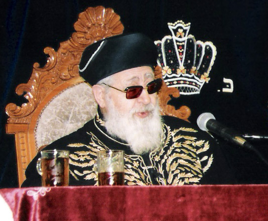 Shas spiritual leader Rabbi Ovadia Yosef. Photo: Yonatan Michael, cc-by-sa