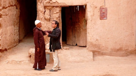 Kamal and his grandfather in Tinghir. Snapshot taken from the film